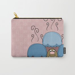Cute Monster With Blue And Red Frosted Cupcakes Carry-All Pouch