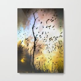 When The Crows Fly Metal Print