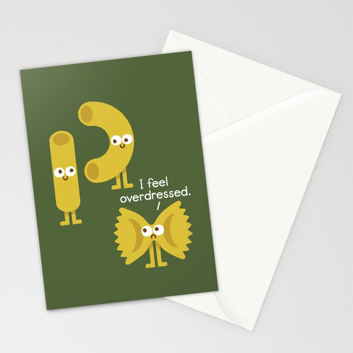 Pasta Party Stationery Cards