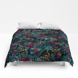Neon Night Garden Comforters