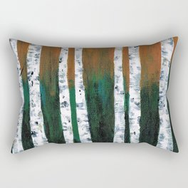 Birch Trees Rectangular Pillow