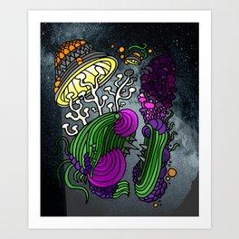 HMECHA_003_Canyon Lights Art Print