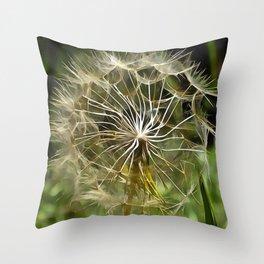 Tragopogon Wildflower Salsify Throw Pillow