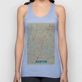 Austin Map Retro Unisex Tank Top