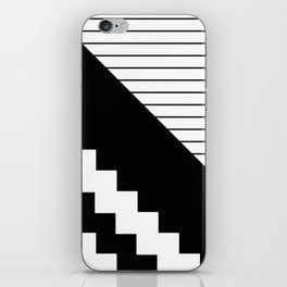 Phases Of Black And White iPhone Skin
