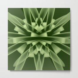 Abstract in green tones Metal Print
