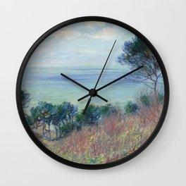 "Claude Monet ""La côte de Varengeville (The coast of Varengeville)"" Wall Clock"