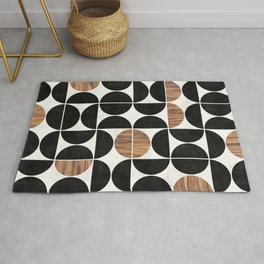 Mid-Century Modern Pattern No.1 - Concrete and Wood Rug
