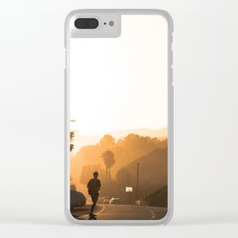 Sunset Skate Clear iPhone Case
