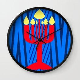 bbnyc: menorah Wall Clock