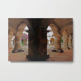 Hallway - Antigua, Guatemala Metal Print