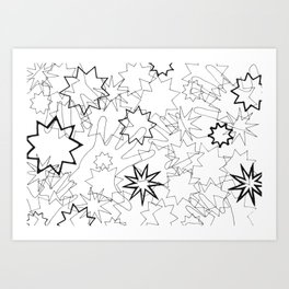 Hands and Stars Art Print