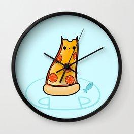 Purrpurroni and Cheese - Pizza Cat Wall Clock