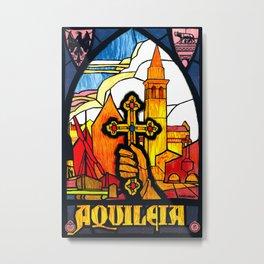 Vintage Aquileia Italy Travel Metal Print