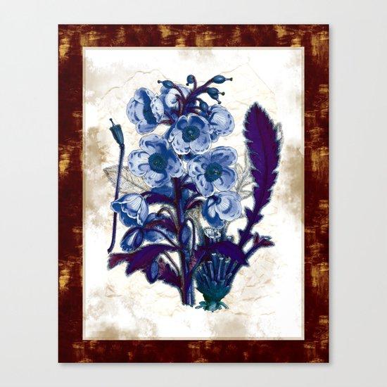 Black Light Botany Canvas Print