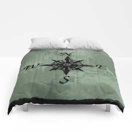Historic Old Compass Rose Comforters