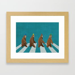 Sloth the Abbey Road Framed Art Print