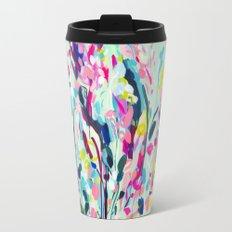 Rise - Abstract Flowers Travel Mug