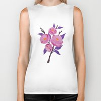 study Biker Tanks featuring Flower study by Bexelbee