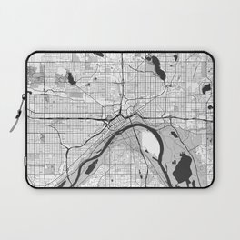 St Paul Map Gray Laptop Sleeve