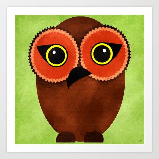 The Tiki Owl Art Print