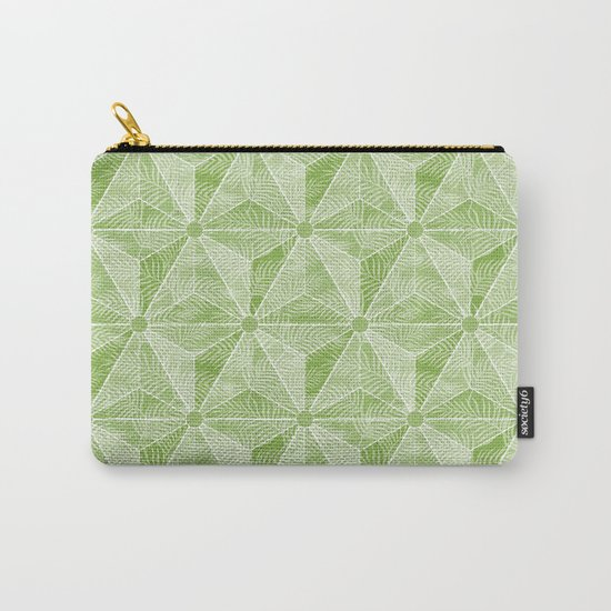 Geodesic Palm_Green Carry-All Pouch
