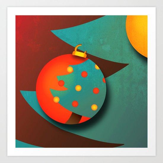 Christmas Eve (texturized edition) Art Print