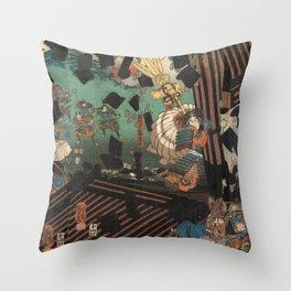 Battlescene Throw Pillow