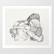 Can you just come here? Art Print
