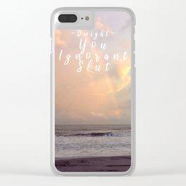 Inspirational Slut Clear iPhone Case