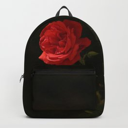 The wild red rose Backpack