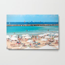 Mediterranean Summer, Tel Aviv, Israel Metal Print