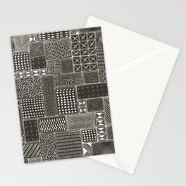African Brown Tribal Mud Cloth Stationery Cards