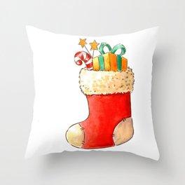 Santa's stocking Throw Pillow