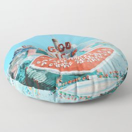 Salvation Mountain Floor Pillow