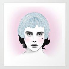 Fashion Illustration - Chanel Blue  Art Print
