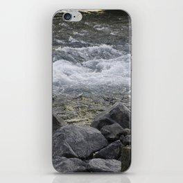 Rocks + river iPhone Skin