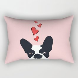 Bulldog Love Rectangular Pillow