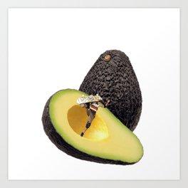 Avocado Skater Art Print