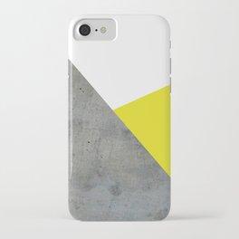 Concrete vs Corn Yellow iPhone Case