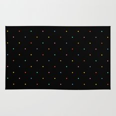 Happy Dots on Black Rug