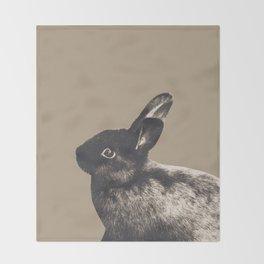 Little Rabbit on Sepia #1 #decor #art #society6 Throw Blanket