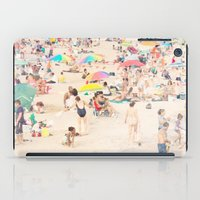 it crowd iPad Cases featuring Beach Crowd by Mina Teslaru