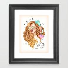 Free my mind, ARTPOP Framed Art Print