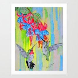 J Humming Bird Art Print