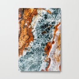 Abstract Aerial Landscape, River Marble, Modern Marble Print, Luxury Geometric Art, Minimal Scandinavian Abstract Pattern Metal Print