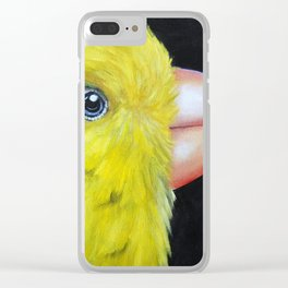 Canary Close Up Clear iPhone Case