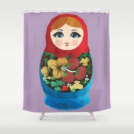 Matryoshka Polygon Art Shower Curtain