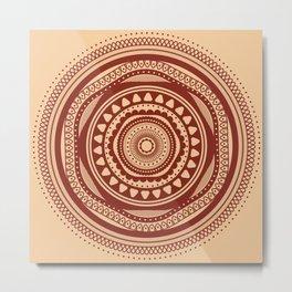 Maroon Pattern Metal Print