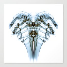 Smoke Ram-Blue on White Canvas Print